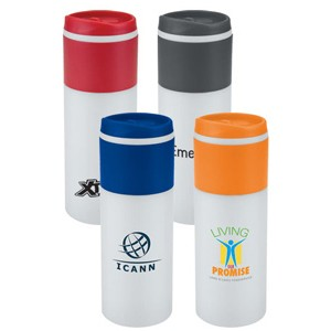 16 Oz. Bright Color Strip Tumbler