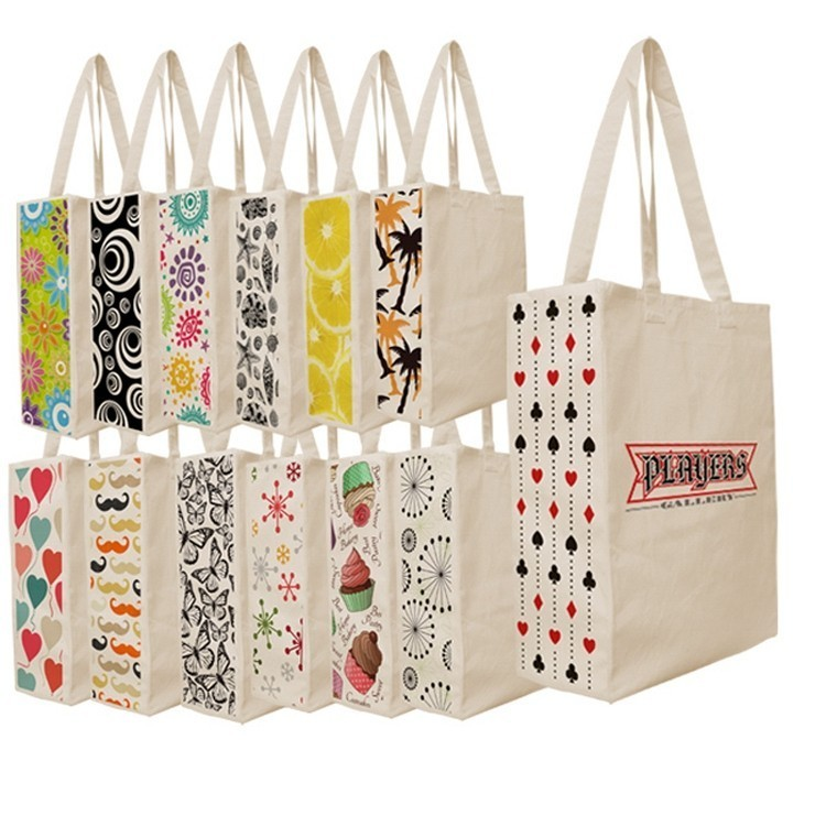 Designer Patterned Gusset Canvas Tote Bag