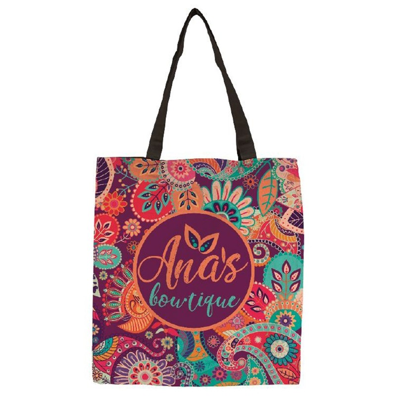 Full Color 9 Oz Cotton Sublimated Tote Bag