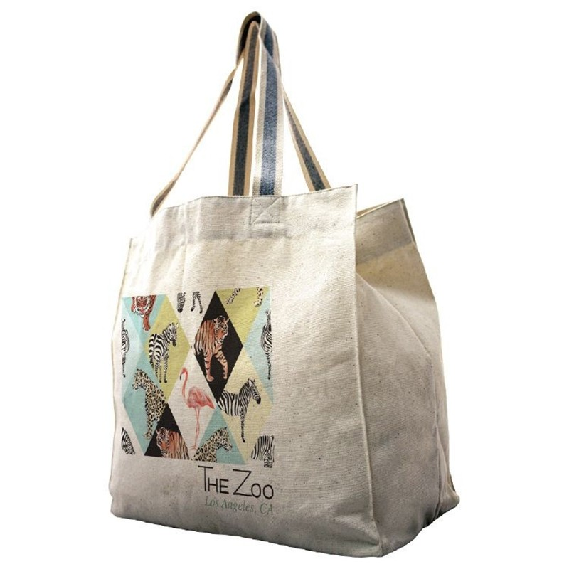 Heavyweight 14 Oz Cotton Hard Bottom Tote Bag