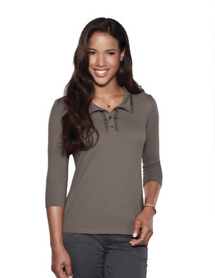 Peyton 3/4 Sleeve Stylish Modern Polo