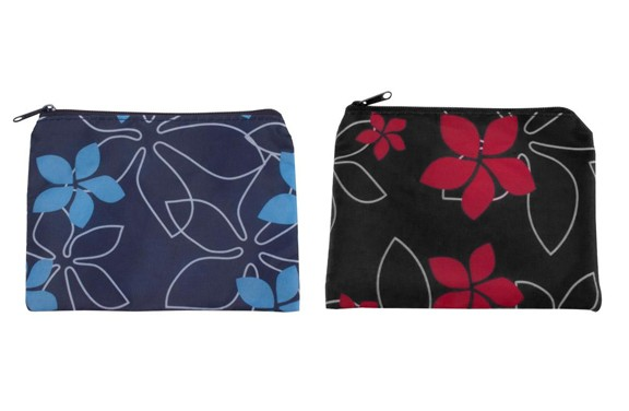 Fun Floral Zippered Make-Up Pouch