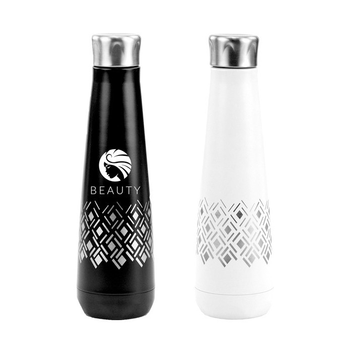 16 Oz Designer Pattern Etched Vacuum Insulated Peristyle Bottle