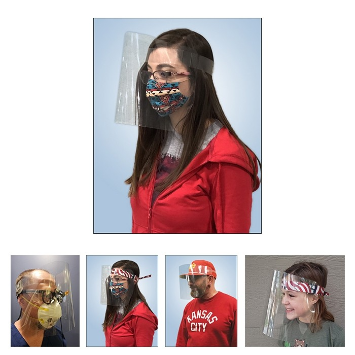 99 Cents Economy Extra Roomy Protective Face Shield Clear Plastic