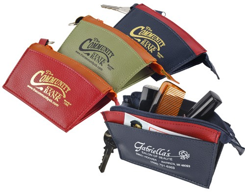Multi Pocket Zippered Wallet Pouch