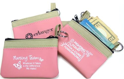 Soft Pink Suede-Style Pink Zippered Pouch