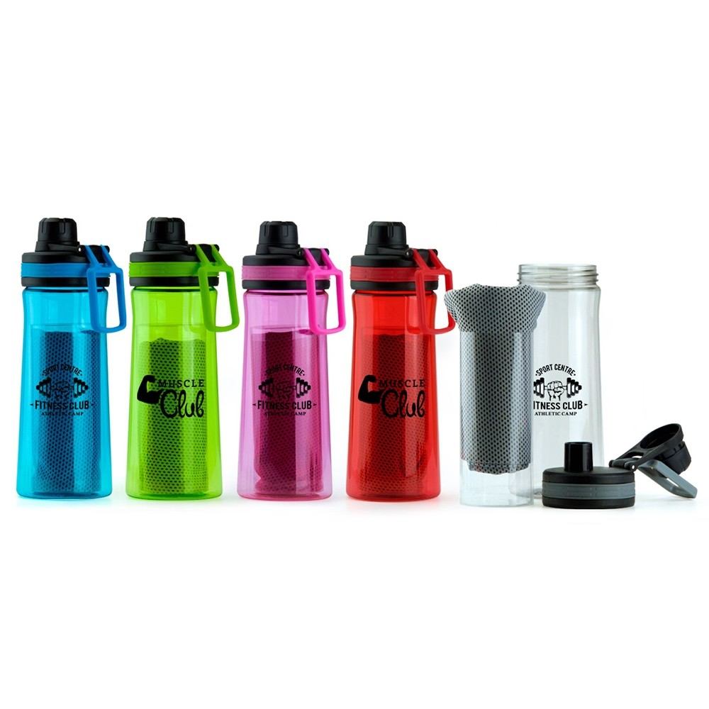 Cool Bottle and Towel Gift Set