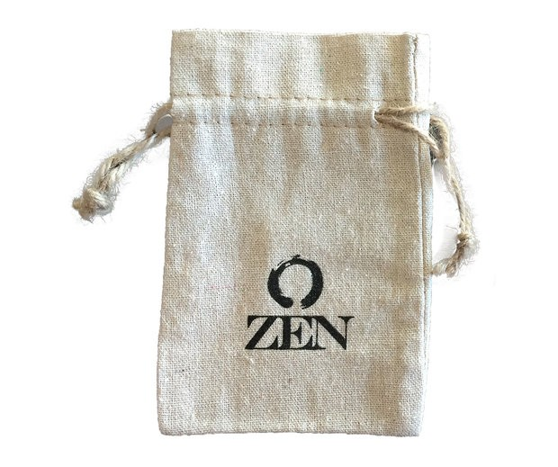 6x4 Natural Linen Drawstring Pouch Imprinted
