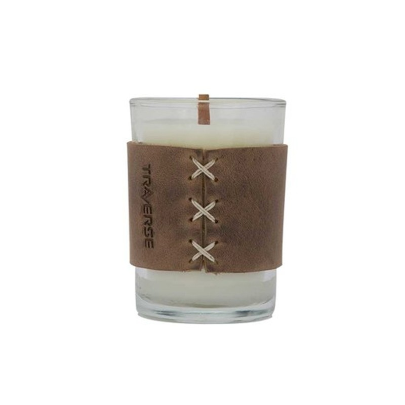 Leather Wrapped 8 Oz Custom Candle