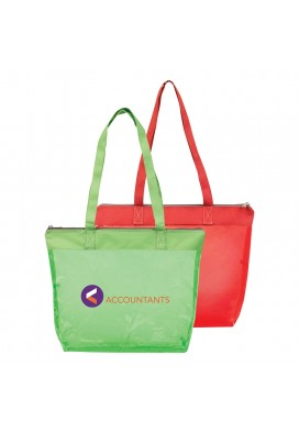 Colored Vinyl See-Through Shoulder Tote