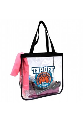 Promotional Clear Stadium Tote Bag Size 12x12x6