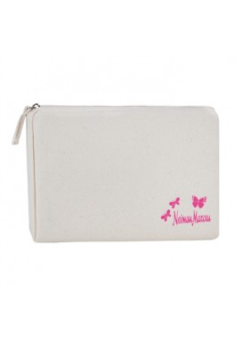 10 Oz Canvas Zippered Square Cosmetics Case