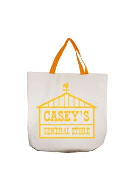 10 Oz Canvas Gusseted Medium Tote with Colored Straps