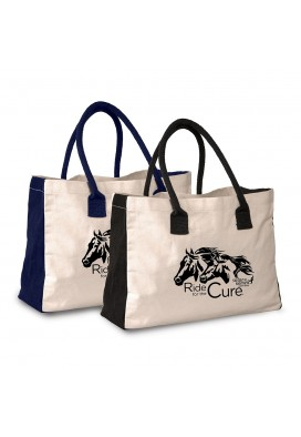 10 Oz Cotton Tote Bag with Gusset Accents