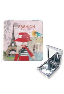 Full Color Sublimated Leatherette Petite Mirror