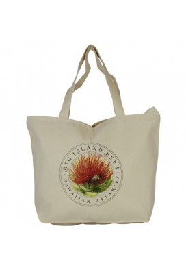 10 Oz Sturdy Canvas Top Zippered Tote
