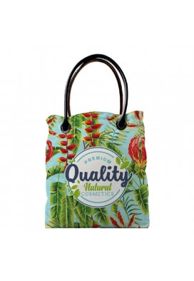 Full Color Tote with Leather Handles