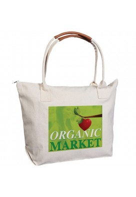 Heavyweight 14 Oz Cotton Zippered Tote with Enhance Handles