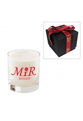 Premium High End 11 Oz Candle with Logo Ribbon Bow - PHE