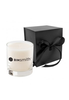 11 Oz Candle in White or Black Square Ribbon Gift Box RUSH - VLUE (Value)