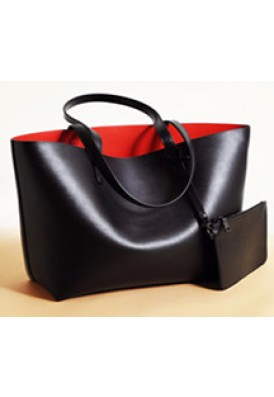 Club Tote Set with Attached Wallet