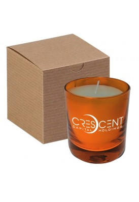 11 Oz Orange Glass Candle in Gift Box - PMOD II (PREMIUM MODERN II)