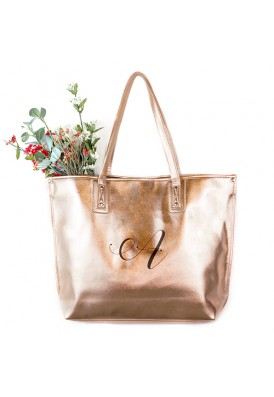 Silver and Gold Metallic Tote