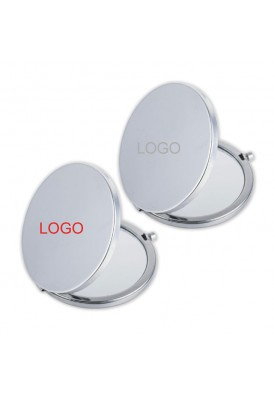 Silver Push Button Mirror