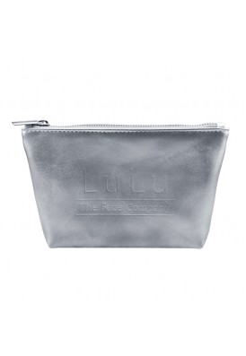 Metallic Silver or Gold Leatherette Cosmetic Case with Gusset