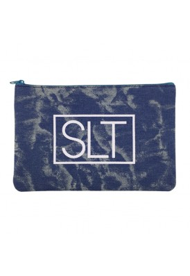 Premium Chambray Bleach Denim Pouch