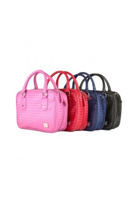 Leatherette Weave Travel Case