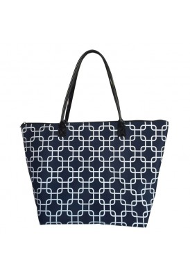 Custom Microfiber Tote With Leatherette Straps