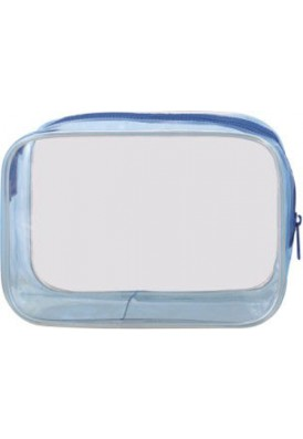 Clear or Pink or Blue Vinyl Bag 6.25x4.5x2.5