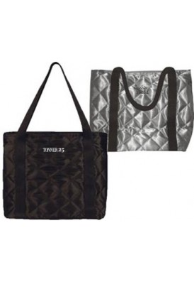 Quilted Satin Tote Bag