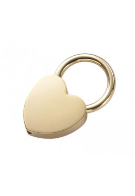Gold Mini Heart Key Chain