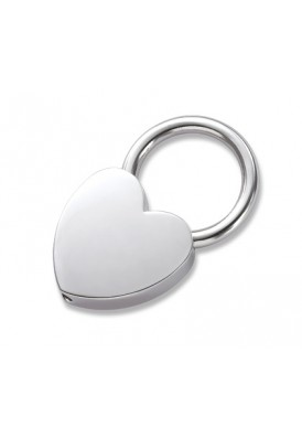 Silver Mini Heart Key Chain