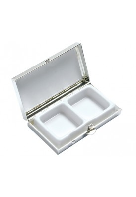 Silver Rectangle Pill Box