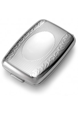 Silver Decorative Cover Pill Box