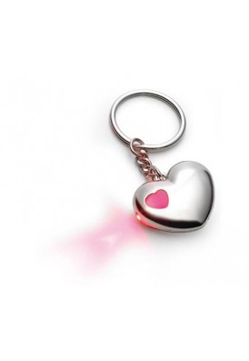 Light Up My Heart Key Chain with Red LED