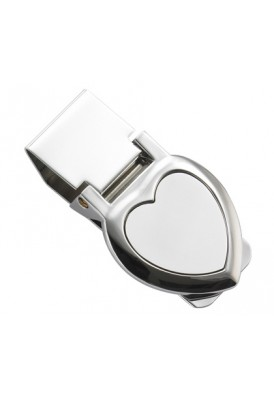 Two Tone Heart Money Clip