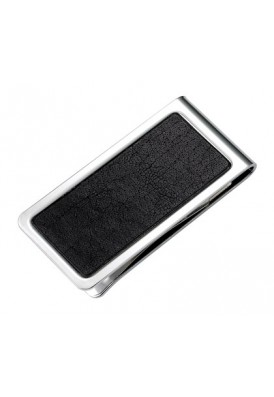 Leather and Silver Money Clip