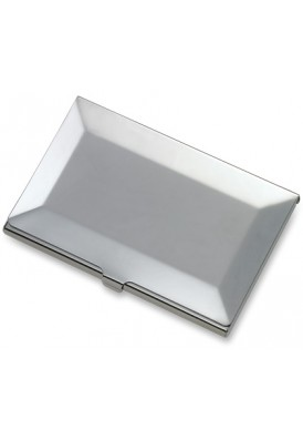 Silver Beveled Edge Card Case