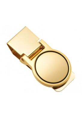 Gold Round Money Clip