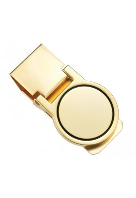 Matte Gold Round Money Clip