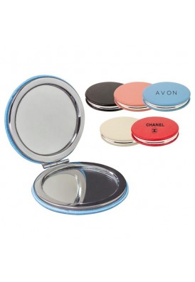 Soft Colorful Leatherette Compact Magnetic Mirror