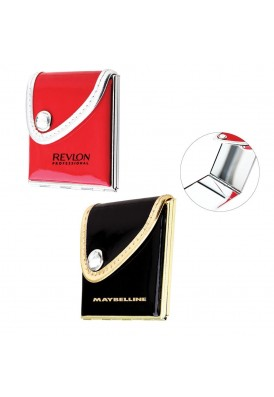 Leatherette Foldable Purse Mirror