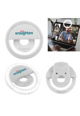 Portable Clip-On Selfie Light Attachment Accessory with Logo