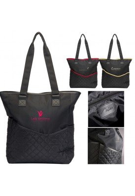 Quilted Designer Shoulder Tote Bag