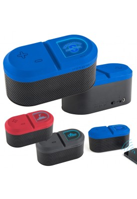 Contemporary Bluetooth Speakers with Blue Light Logo