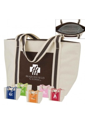 Mini Accented Beige Lunch Tote